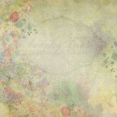 5 Ft X 5 Ft Painted Floral Grunge Vinyl Photography Backdrop