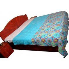 Indian Ethnic Suzani Prints Cotton Fabric Layered Kantha Stithched Handmade Gudari / Kantha Quilts http://radhikatextile.com/our-products/o-kantha-gudaris.html