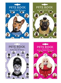 Pets Rock Air Fresheners Show Critters in Wigs & Costumes