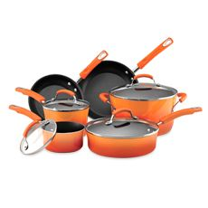 Rachael Ray Hard Enamel Cookware Set and Open Stock - Orange
