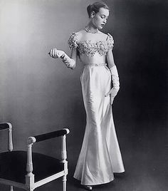 Jean Patou Evening Gown, 1951    Photo Philippe Pottier --Shared by WhatnotGems.Etsy.com