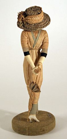 Doll  Lafitte Desirat  (French)  Date: 1911–16 Culture: French Medium: [no medium available] Dimensions: Height: 12 in. (30.5 cm) Credit Line: Gift of Claras, 1972 Accession Number: 1972.154.3  This artwork is not on display