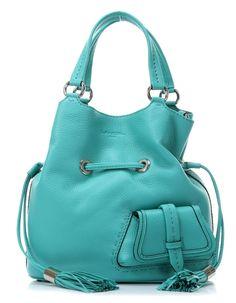 wardow.com - #Lancel, Premier Flirt Beuteltasche Leder tuerkis 30 cm, #blue, #bag