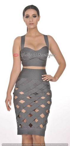 awesome Two Piece Bandage Lattice Crossover Skirt Crop Top Bodycon Sleeveless Club Dress Check more at http://shipperscentral.com/wp/product/two-piece-bandage-lattice-crossover-skirt-crop-top-bodycon-sleeveless-club-dress/