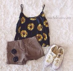I like this out fit but I would need the covers! This outfit would be good for summer. ^^