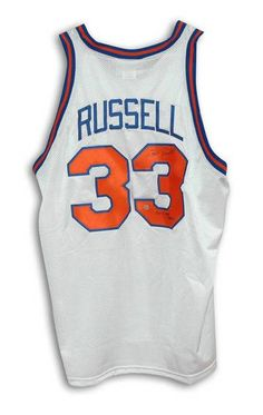 3617ce29154 Cazzie Russell New York Knicks Autographed White Throwback Jersey Inscribed