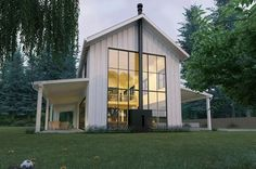 Awesome Modern Look Metal Farmhouse (HQ Plans & Pictures) | Metal Building Homes