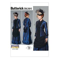 Butterick Pattern 6305 B5 Sizes 8 - 16 Misses Costume Sew... https://www.amazon.co.uk/dp/B017M32K82/ref=cm_sw_r_pi_dp_x_oO8Qxb2CBRW3Q