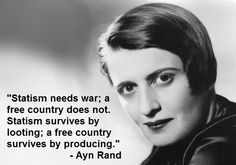 """'A little bit of force' is like 'a little bit of cancer.'"" Ayn Rand"