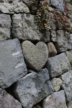 Stone heart in rock wall . Picture by Mrlenour