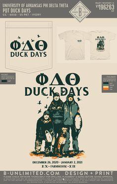 Phi Delta Theta Duck Days Shirt | Fraternity Event | Greek Event #phideltatheta #phidelt Phi Delta Theta, University Of Arkansas