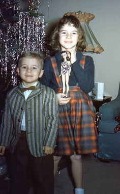 See my new Barbie doll Santa gave me and we got new Christmas outfits!  1960 Christmas