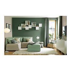 SANELA Gardiner, 2 stk., grågrøn - 140x250 cm - IKEA