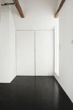 Scandinavian loft hallway. Humlebaek House by Norm.Architects