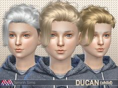 The Sims Resource: Ducan (Hair 15) child • Sims 4 Downloads