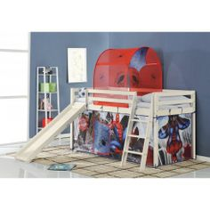Spiderman Cabin Bed with Slide and Tent - Our fun Disney Cars cabin bed with slide  sc 1 st  Pinterest & Disney Princess Cabin Bed with Slide and Tent in Design | £199.99 ...