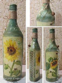Декор предметов Декупаж А вот кому баночки бутылочки - налетай Банки стеклянные Бутылки стеклянные фото 4