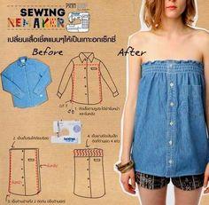 Es realmente bueno para convertir la ropa vieja o de gran tamaño a nuevos usos, especialmente cuando la ropa es nueva, pero de tamaño incorrecto o los mate