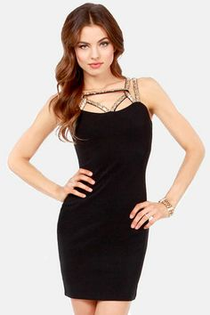 Take Center Cage Black Sequin Dress at LuLus.com! #lulus #holidaywear LOVE THIS