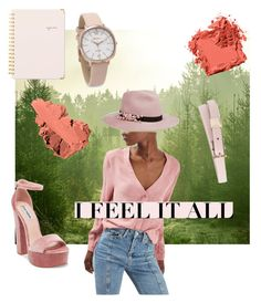 """""""Green & Blush"""" by tanyaapinto on Polyvore featuring interior, interiors, interior design, home, home decor, interior decorating, Bobbi Brown Cosmetics, Sugar Paper, Steve Madden and Topshop"""