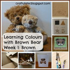 This is the first in my series about Learning Colours, based on the animals in the book Brown Bear, Brown Bear What Do You See?