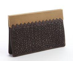 Bottega Veneta Ebony Leather Intrecciato Textured Overlay Goldtone Accent Clutch | Zoanne http://www.zoanne.com/bags/Bottega-Veneta-Ebony-Leather-Intrecciato-Textured-Overlay-Goldtone-Accent-Clutch $1,750
