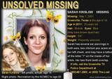 Unsolved Missing - Sarah Kinslow - 2001 - Greenville TX