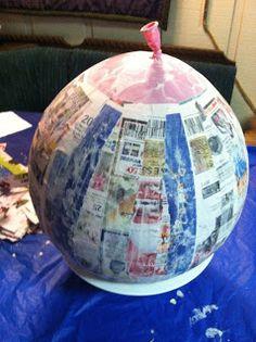"Ms. Nancy's Nook : DIY Round ""Pokemon"" Pinata"