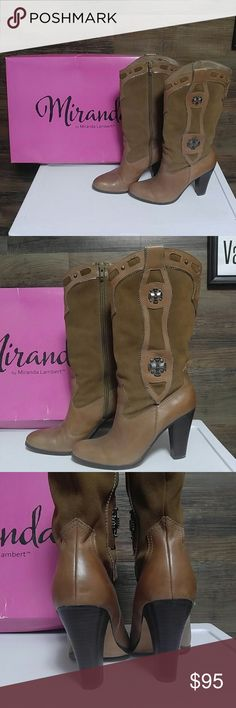 Miranda Lambert Candice Boots Worn twice. Miranda Shoes Heeled Boots