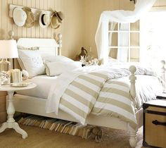 love the books under the bed. Neutral love at Pottery Barn. I added source -- no link given originally.