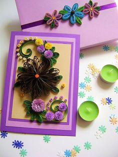 Quilled greeting cardsPaper quilling birthday cardsQuilling