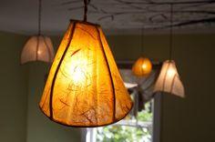 Camellia Pendant Lantern (copper & paper)