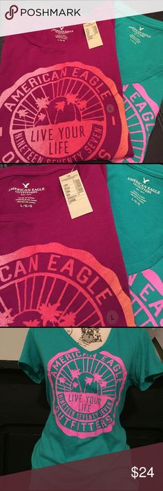 🦅AMERICAN EAGLE  BUNDLE 🦅 BRAND NEW 🦅BRAND NEW with tags! Never worn. Tried one. One shirt is missing tag. American Eagle Outfitters Tops Tees - Short Sleeve