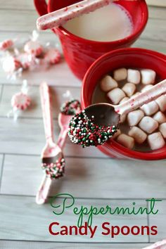 Peppermint Candy Spoons: These candy spoons are not only entirely edible, but are also easy-to-create and make for an incredible treat for your sweet tooth. Find more easy homemade Christmas candy, treat and dessert recipes and ideas here. Christmas Candy Gifts, Candy Cane Christmas Tree, Diy Holiday Gifts, Homemade Christmas, Christmas Desserts, Holiday Treats, Christmas Baking, Holiday Recipes, Christmas Crack