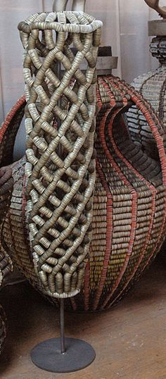 Clare Graham, Artist, Contemporary Basketry, recycled bottle tops, (not other information available)