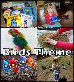 Birds Preschool Theme, goes with animal week