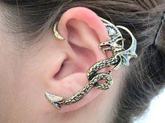 Gothic glitter dragon ear cuff by StylesBiju on Etsy, $13.90