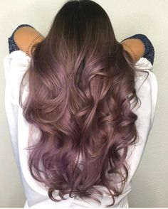 50 Purple Hair Color Ideas for Brunettes You Will Love in Purple hair color ideas for brunettes is in, ladies! When work comes to hair color ideas which can truly flatter any skin tone, purple hair colors are. Lilac Hair, Hair Color Purple, Hair Color And Cut, Ombre Hair, Cool Hair Color, Hair Colors, Purple Tinted Hair, Purple Brown Hair, Balayage Hair Purple