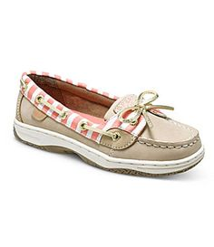 88410b863e Sperry Top-Sider Girls  Angelfish Boat Shoes - Silver Cloud Coral Bret Cute