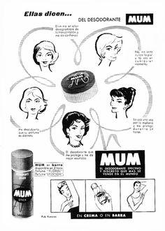Publicidad Desodorante Mum 1961.