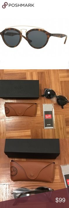 Ray ban brand new gatsby II rb4257 brand new Brand new in the box sunglasses by ray ban, all items in image are included. Perfect condition and never worn. More info: Women's sunglasses just took a retro-modern twist that could change your outlook forever. Inspired by the original Ray-Ban Gatsby, it's the RB 4257 styles. A retro-inspired rounded phantos sun shape with a distinct feminine flavor, the RB 4257 takes its cues from both the modern high-street and the icons of the past. Ray-Ban…