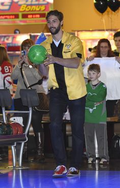 """Veteran bowler Robert Bortuzzo weighed in on the importance of Pens and Pins: """"The community does so much for us, supporting us, so we love to give back,"""" Bortuzzo said. """"I know for a lot of the guys, these are the events that we want to go to and have fun with kids."""""""