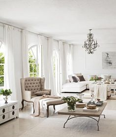 Google Image Result for http://eclecticrevisited.files.wordpress.com/2011/03/living-room-decor-white-rustic-coffee-table-tufted-chair-greige-taupe-decorating-home-house-ideas.jpg%3Fw%3D450