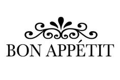 Check out this item in my Etsy shop https://www.etsy.com/listing/231331188/bon-appetite-kitchen-wall-stencil