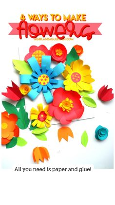 Diy Crafts Hacks, Diy Arts And Crafts, Diy Crafts For Kids, Paper Crafts, Giant Paper Flowers, Diy Flowers, Flower Centerpieces, Flower Arrangements, Flower Backdrop