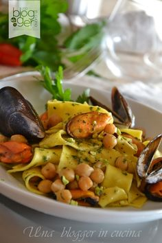 Italian Pasta, Italian Dishes, Italian Recipes, Seafood Recipes, Pasta Recipes, Vegan Junk Food, Pasta Dishes, Food Inspiration, Food And Drink