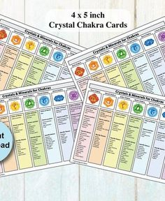 Printable Chakra Healing Crystals & Gemstones Cards 4 / page Diy Jewelry Making, Jewelry Making Supplies, Wholesale Crystals, Crystal Guide, Gemstone Properties, Vintage Jewelry Crafts, Crystal Healing Stones, Crystal Meanings, Blog Planner