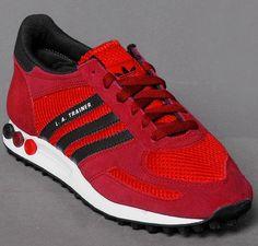 best service 13dd2 2b4be adidas Originals LA Trainer  Red Black White New Sneakers, Streetwear,  Adidas