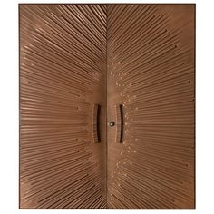 Spectacular Kaylien Sunburst Doors, c.1970. a competitor of Forms+Surfaces in the 60's and 70's , this company invented the fiberglass door in the same manner as Charles Eames did the fiberglass chair. Based out of San Diego California (these doors are not longer in production.) Hardware and door jams in matching bronze from the factory included.