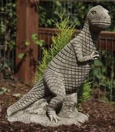Tyrannosaurus Rex Dinosaur Statue Large Garden Ornament. Buy now at http://www.statuesandsculptures.co.uk/large-garden-ornaments-tyrannosaurus-rex-dinosaur-statue